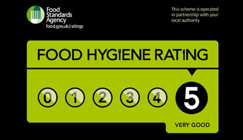 Food Hygiene rating (5/5)